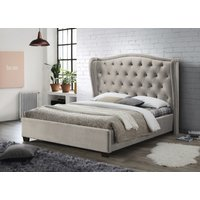 Product photograph showing Lauren Champagne Fabric Bed