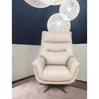 Product photograph showing Linea Putty Leather Swivel Chair