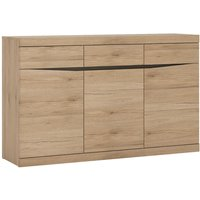 Product photograph showing Kensington Oak 3 Door Sideboard