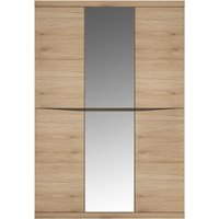Product photograph showing Kensington Oak 3 Door Mirror Wardrobe