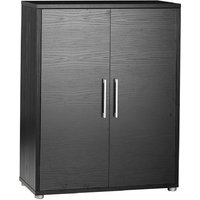 Product photograph showing Prima Black 2 Door Bookcase