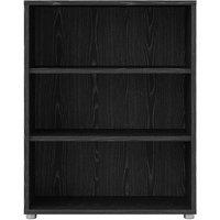 Product photograph showing Prima Black 2 Shelves Open Bookcase