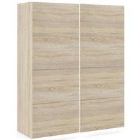 Product photograph showing Verona 2 Door 5 Shelves Sliding Wardrobe W 120cm - Oak