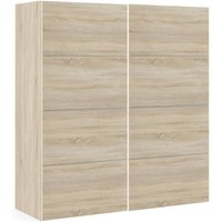 Product photograph showing Verona 2 Door 5 Shelves Sliding Wardrobe W 180cm - Oak