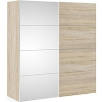 Product photograph showing Verona 2 Door Sliding Wardrobe W 180cm - Oak And Mirror
