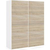 Product photograph showing Verona 2 Door Sliding Wardrobe W 120cm - White And Oak