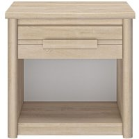 Product photograph showing Gami Montana Blond Oak Bedside Cabinet