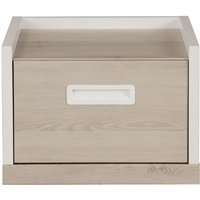 Product photograph showing Gami Tiago Bedside Cabinet - White And Bleached Pine