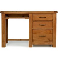 Product photograph showing Arles Oak Desk With Filing Cabinet