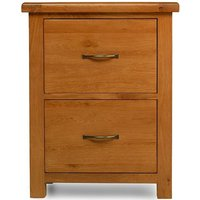 Product photograph showing Arles Oak Filing Cabinet