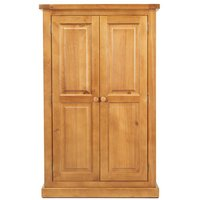 Product photograph showing Churchill Pine 2 Door Kids Wardrobe