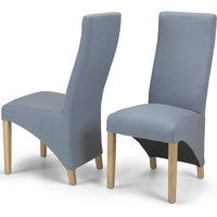 Product photograph showing Ariton Slate Fabric Dining Chair Pair