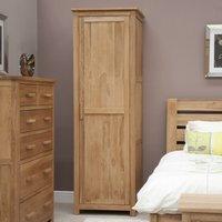 Homestyle Opus Oak 1 Door Single Wardrobe