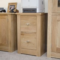 Product photograph showing Homestyle Gb Torino Oak Filing Cabinet