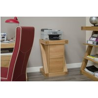Product photograph showing Homestyle Gb Z Designer Oak Filing Cabinet