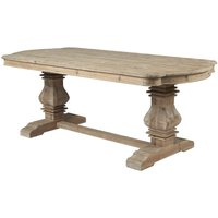 Product photograph showing Asbury Reclaimed Pine Kidney End Dining Table