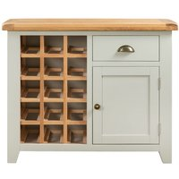 Product photograph showing Lundy Wine Cabinet - Oak And Grey Painted