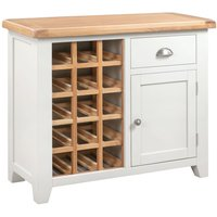 Product photograph showing Lundy Wine Cabinet - Oak And White Painted