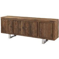 Product photograph showing Railway Sleeper Wood Large Sideboard