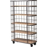 Product photograph showing Renton Industrial Old Pine Shelf Cage