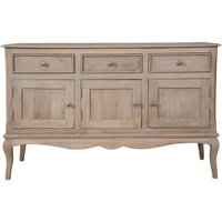 Product photograph showing Calais Grey Washed Large Sideboard