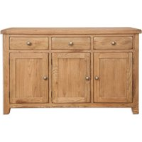 Product photograph showing Perth Country Oak Large Sideboard