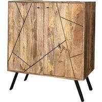 Product photograph showing Jaipur Amar Mango Wood And Iron Wine Rack