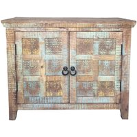 Product photograph showing Jaipur Aravali Mango Wood 2 Door Small Sideboard