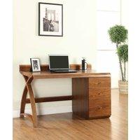 Jual Curve Walnut Pedestal Desk - 3 Drawers PC601