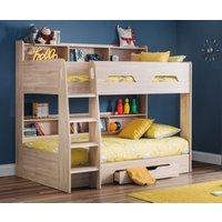 Product photograph showing Julian Bowen Orion Sonoma Oak Bunk Bed