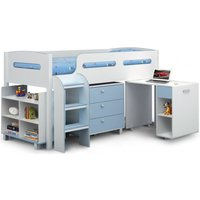 Product photograph showing Julian Bowen Kimbo Blue Cabin Bed