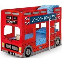 Julian Bowen London Bus Red Bunk Bed