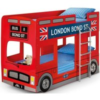 Julian Bowen London Bus 3ft Single Red Bunk Bed