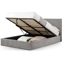 Product photograph showing Julian Bowen Shoreditch Slate Grey Velvet Lift-up Storage Bed