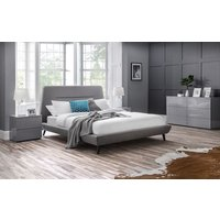 Product photograph showing Julian Bowen Kyoto Grey Fabric 5ft King Size Bed