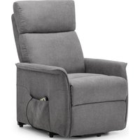 Product photograph showing Julian Bowen Helena Rise And Charcoal Grey Velvet Recline Chair