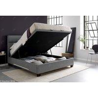 Product photograph showing Kaydian Chilton Ottoman Storage Bed - Artemis Light Grey Fabric