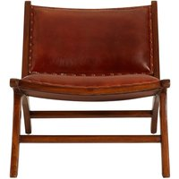 Product photograph showing Adelaide Genuine Antique Brown Leather Angled Chair