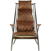 Product photograph showing Bexley Genuine Brown Leather Chair