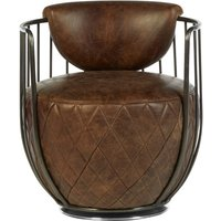 Product photograph showing Bexley Genuine Brown Leather Swivel Chair