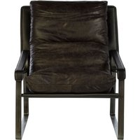 Product photograph showing Bexley Genuine Dark Brown Leather Lounge Chair