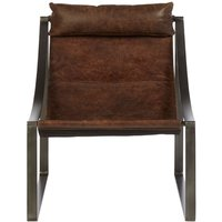 Product photograph showing Bexley Genuine Distressed Brown Leather Chair