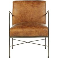 Product photograph showing Bexley Genuine Light Brown Leather Dining Chair