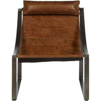 Product photograph showing Bexley Genuine Light Brown Leather Lounge Chair