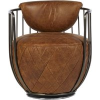 Product photograph showing Bexley Genuine Light Brown Leather Swivel Chair
