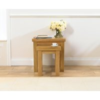 Product photograph showing Mark Harris Barcelona Solid Oak Nest Of Tables