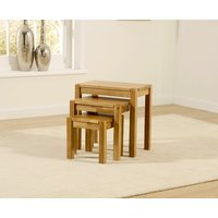 Product photograph showing Mark Harris Promo Oak Nest Of Tables