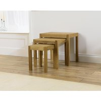 Product photograph showing Mark Harris Verona Solid Oak Nest Of Tables