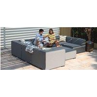 Maze Lounge Outdoor Apollo Flanelle Fabric Large Corner Sofa Group