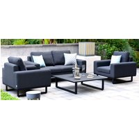 Product photograph showing Maze Lounge Outdoor Ethos Charcoal Fabric 2 Seat Sofa Set With Coffee Table
